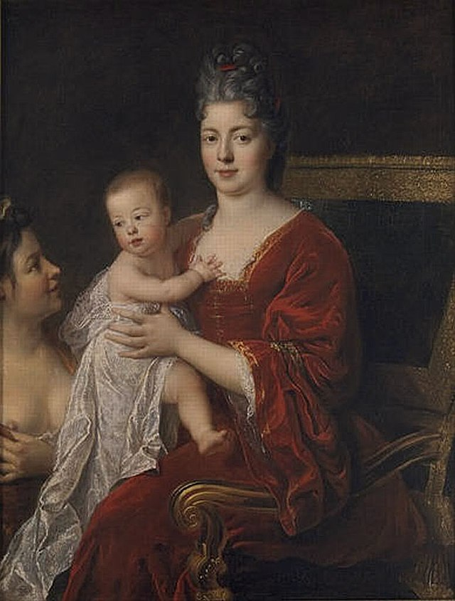 Marie Adelaide de Savoie, dauphine of France, with her son, the future Louis XV.jpg