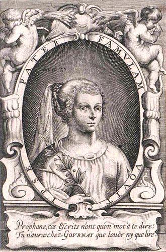Marie de Gournay - Frontispiece of Marie le Jars de Gournay