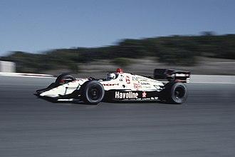 Mario Andretti - Andretti driving at Laguna Seca Raceway in 1991.
