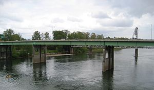 Marion Street Bridge in Salem, Oregon