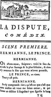 <i>La Dispute</i> 1747 play written by Pierre de Marivaux
