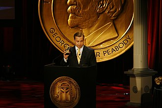 KHOU - Mark Greenblatt at the 69th Annual Peabody Awards for Under Fire-Discrimination and Corruption in the Texas National Guard
