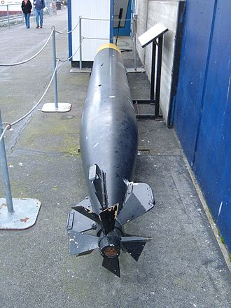 Mark 14 torpedo - A Mark 14 torpedo on display at Fisherman's Wharf in San Francisco