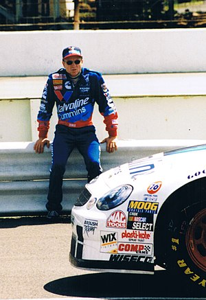 Mark Martin - Martin prior to qualifying at Pocono 1998