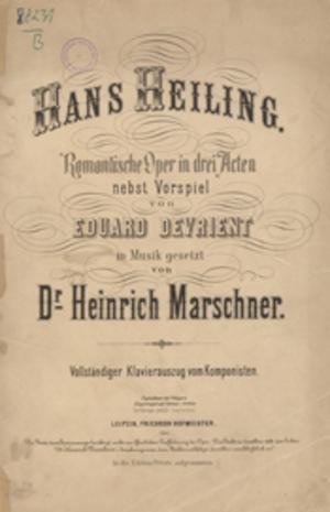 Hans Heiling - Hans Heiling score