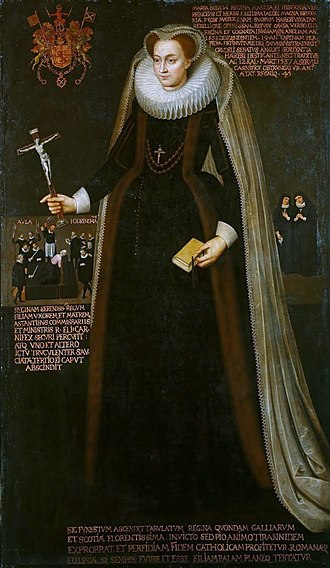Jane Kennedy (courtier) - Memorial picture showing Jane Kennedy as a background figure to the right of Mary, (Royal Collection)