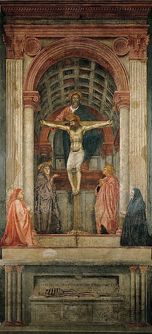 masaccio with Holy trinity virgin