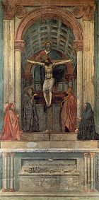 The Holy Trinity by Masaccio.