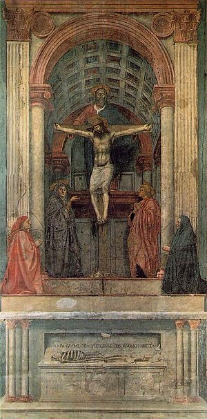 Santa Maria Novella - The Holy Trinity by Masaccio.