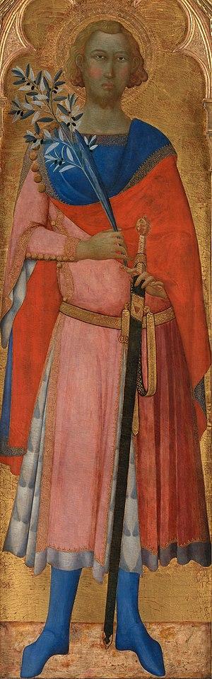 Victor and Corona - Image: Master of Palazzo Venezia Madonna St Victor of Siena Google Art Project