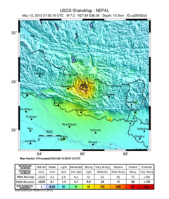 May 2015 Nepal earthquake ShakeMap version 3.png