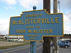 Official logo of McAlisterville, Pennsylvania