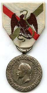 Commemorative medal of the Mexico Expedition