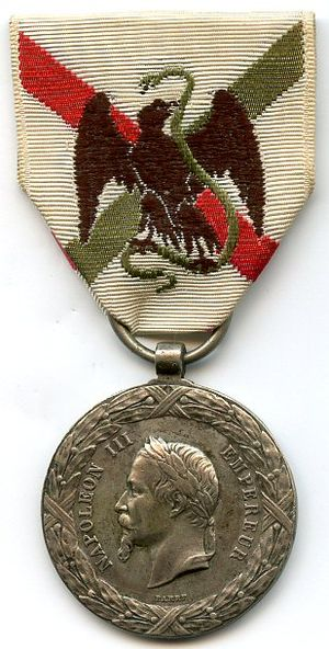 Commemorative medal of the Mexico Expedition - Image: Medaille expedition du mexique FRANCE
