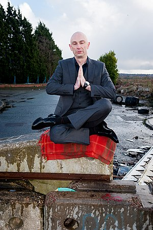 Shaun Attwood - Meditating in hometown. Photograph by Mike Polloway