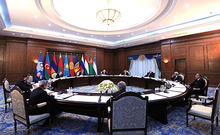 Meeting of CIS Council of Heads of State. September 16, 2016. Bishkek. Meeting of CIS Council of Heads of State (2016-09-16) 03.jpg