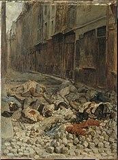 La barricade, rue de la Mortellerie, juin 1848