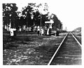 Members of the Sandvik and Leivonen families waiting for train - Haile, Florida.jpg