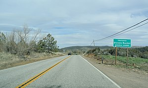 California State Route 79 - Steven Rucker Memorial Highway sign, looking north