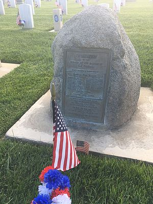Battle of San Pasqual - Marker of reburied servicemembers who died during the Battle of San Pasqual