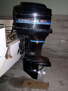 Mercury 50 HP outboard motor circa 1980