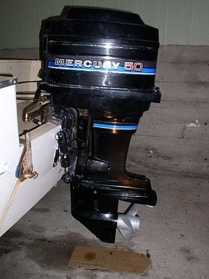Transom (nautical) - Outboard motor mounted to the transom of a boat