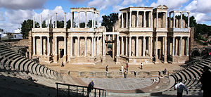 Spanish architecture - Roman theater in Mérida.