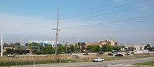 Merrillville Skyline with US 30.jpg