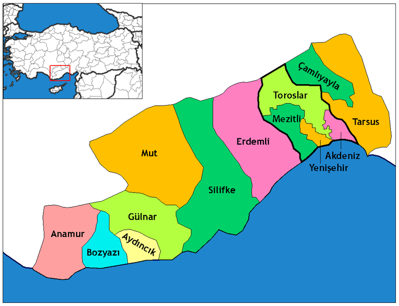 Datei:Mersin districts.png