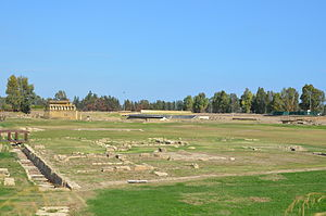 Metapontum - The manteion, with the theater in the background.