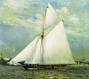 Thistle (yacht) - Meteor I in the 1893 Kiel Week races.