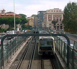 Line A (Rome Metro) - Train crossing the Tiber River
