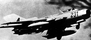Mikoyan-Gurevich MiG-19 - MiG-19PM with drop tanks.