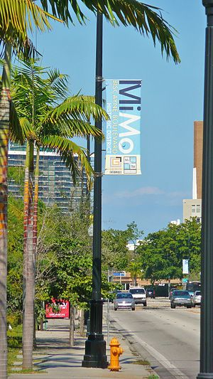 Upper Eastside - MiMo District sign