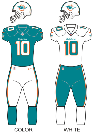 2016 Miami Dolphins season - Image: Miamidolphins uniforms 13