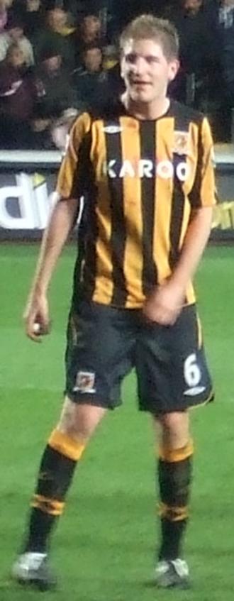 Michael Turner (footballer) - Turner playing for Hull City in 2009