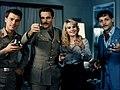 Michele Placido, Franco Nero, Miou-Miou, Patrick Dewaere, Marcia Trionfale (1976).jpg