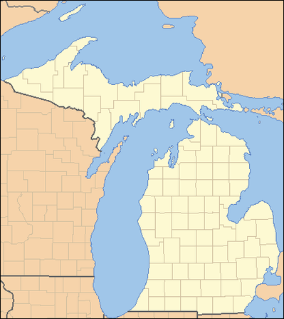 List Of Counties In Michigan Wikipedia - Michigan county map