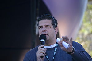Mike Golic of ESPN Radio's Mike and Mike at th...