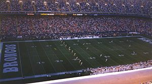 Mile High Stadium - The Broncos at Mile High Stadium in 1996