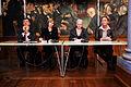 Miljoministrarna fran Norge, Finland, Island och Danmark haller pressmote under Nodiska radets session i Kopenhamn 2006.jpg
