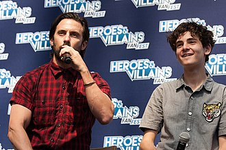 Milo Ventimiglia - Ventimiglia with David Mazouz promoting Gotham, London, 2017.