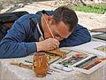 Miniaturiste dans le parc du palais dété Sitori-i-Mokhi Khosa (Boukhara, Ouzbékistan) (5713362722).jpg