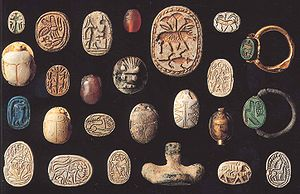 Scarab (artifact) - Scaraboid seals are small impression seals, some 1.5 cm long.