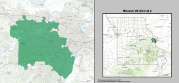 Missouris Congressional Districts Wikipedia - Missouri us congressional district map