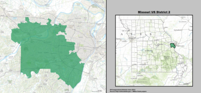 Missouri's 2nd congressional district - since January 3, 2013.