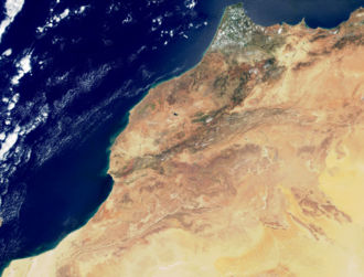 Geography of Morocco - True-color image of Morocco from Terra spacecraft