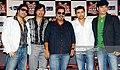 Mohit Chauhan, Shankar Mahadevan, Himesh Reshmiya and Mika Singh together in a promotional event.jpg