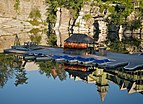 Mohonk Mountain House 2011 Boat Dock Against Reflection of Cliff FRD 3029.jpg