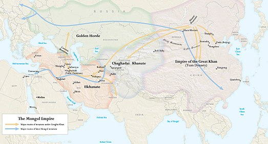 the mongol invasion s influence on the The mongol invasions of japan kublai khan's quests for domination in 1274 and 1281.